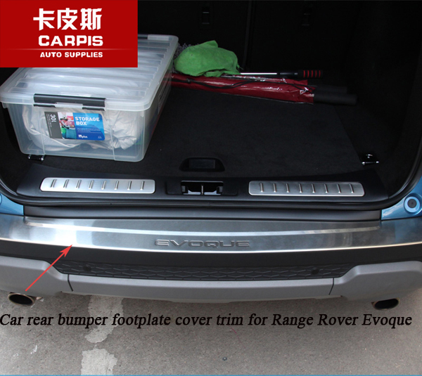 Stainless Steel Car Rear Bumper Footplate Scuff Sill Rear Bumper Protector Cover Trim For Range Rover Evoque 2014-2017 Styling stainless steel interior rear bumper protector sill rear trunk scuff plate trim for peugeot 408 2014 2015 car styling accessory