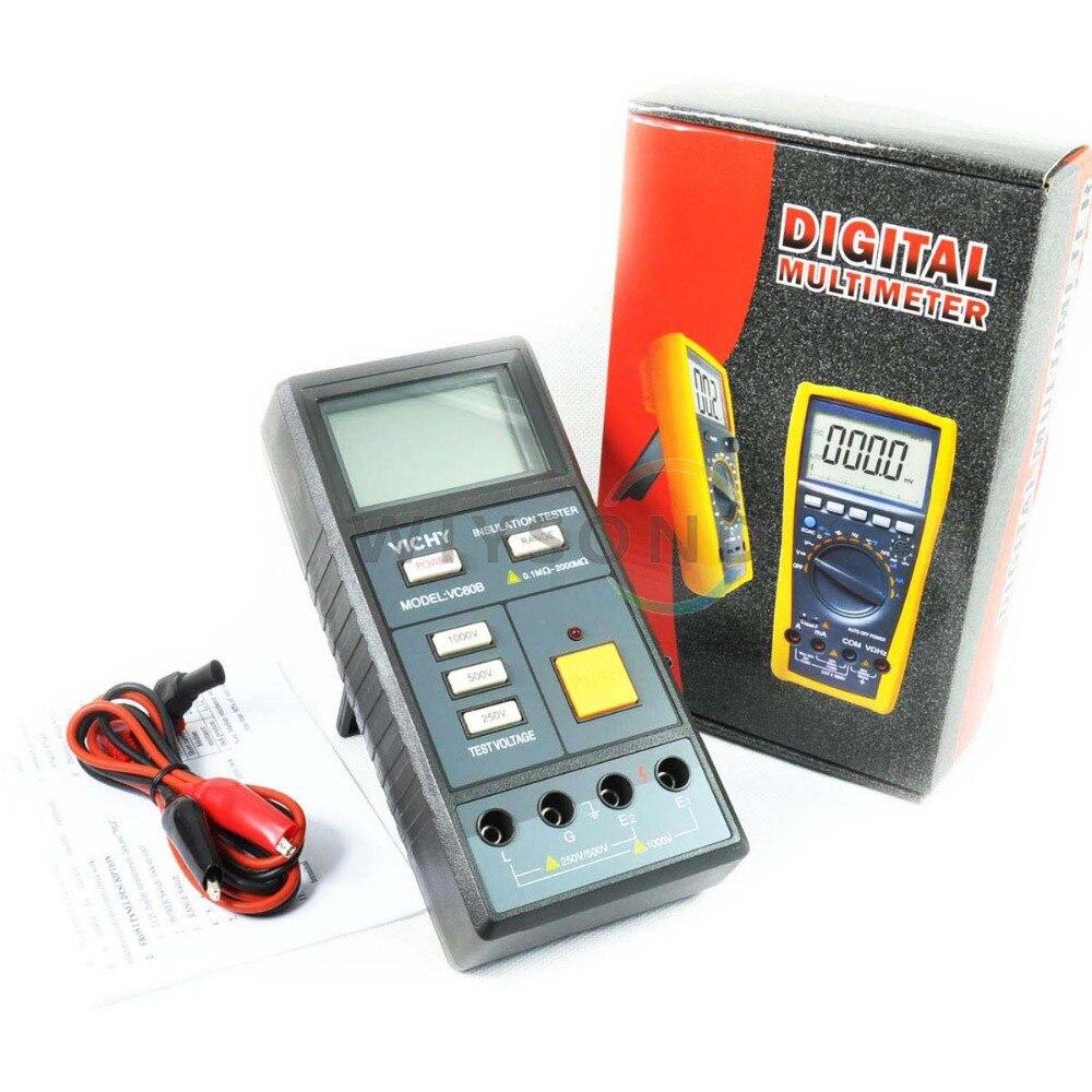 ФОТО M010 VC60B Resistance Digital Meter Megohm Tester Megger Insulation Megohmmeter FREE SHIPPING