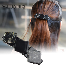 Women head wear black hair clips cute bows elegant accessories for women