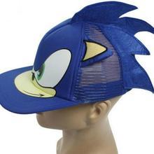 3D 1 шт. синий милый мальчик Соник Ежик мультфильм Молодежная регулируемая бейсболка кепки синий для мальчиков вечерние подарки