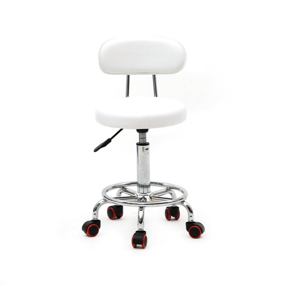 Tabouret de selle chaise roulante hydraulique pivotant Salon tabouret chaise ronde forme réglable tatouage Massage tabouret avec dos-US Stock