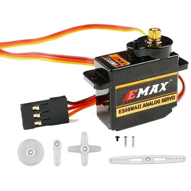 4pcs/lot 100% Orginal EMAX ES08MA II Mini Metal Gear Analog Servo 12g/ 2.0kg/ 0.12 Sec Mg90S