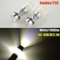 2x White Red Amber High Power 75W 7443 T20 W21 5W LED Bulbs Car Reverse Lights
