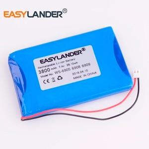 Аккумулятор большой емкости 7,4 В 3800 мАч для satlink, WS-6908, WS-6906, WS-6909, WS-6905, WS-6912, WS-6918, WS-6936, WS-6969, WS-6960, WS-6979