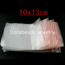 Doreen Box hot-  100 Self Sealing Zip Lock Plastic Bags 10x13cm (B03106)
