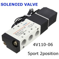 1Pcs 12V DC 2 5W 4V110 06 5port 2position Electronic Solenoid Air Valve BSP Pilot Operated