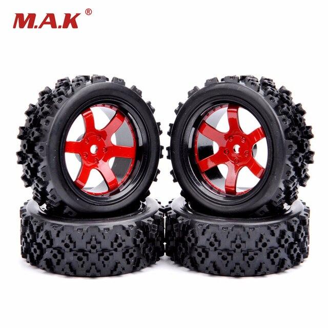 4Pcs Rubber Rally Tires Wheel Rim D6NKR Fit HSP HPI RC 1:10 Model Racing Car