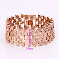 Xuping Fashion Bracelet Top Quality Simple Smooth Small Heart Rose Gold Color Plated Bracelet Jewelry Promotion S14-72450
