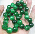 0014480 Natural 10mm Round GREEN JADE JADEITE NECKLACE 18INCH