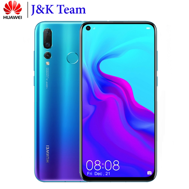 Huawei Nova 4 8GB 128GB 48MP Triple Camera Mobile Phone Android 9.0 Pie 6.4 inch Screen 3750mAh Battery Smartphone