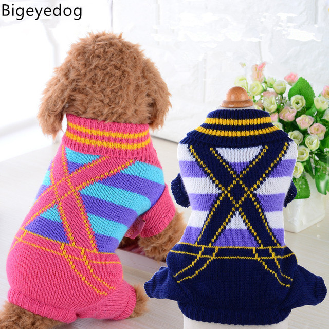 Bigeyedog Dog Sweater Four Leg Jumpsuit Dog Pajamas Pet Clothing