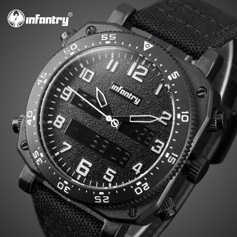 Analog Digital Military Tactical Pilot Watches For Men Square