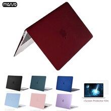 MOSISO ل جديد كمبيوتر صغير هوائي ماك بوك برو الشبكية 13 15 حالة 2018 مع اللمس بار و لوحة المفاتيح غطاء كريستال ماتي الصلب جراب للماك بوك A1932