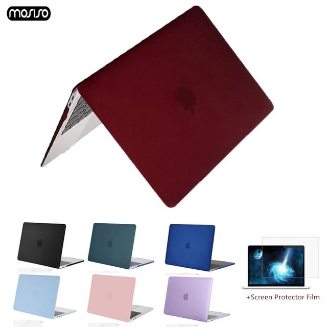 MOSISO 新 Macbook Pro の空気網膜 13 15 ケース 2018 とバー & キーボードカバークリスタルマットハード macbook A1932