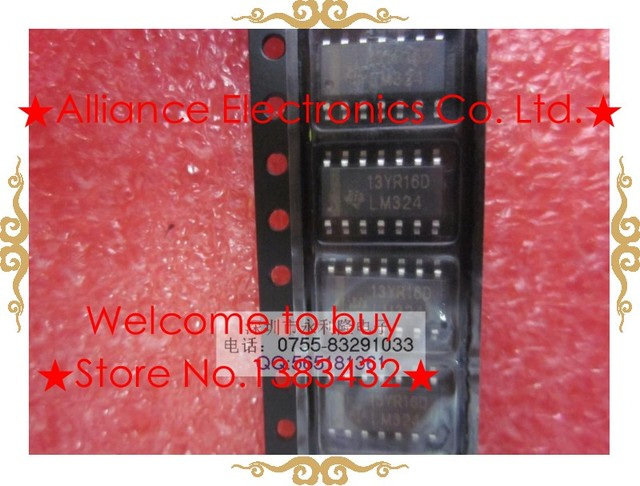 Aliexpress.Com : Buy New Lm324 Lm324N Sop 14 Quad Op Amp Used