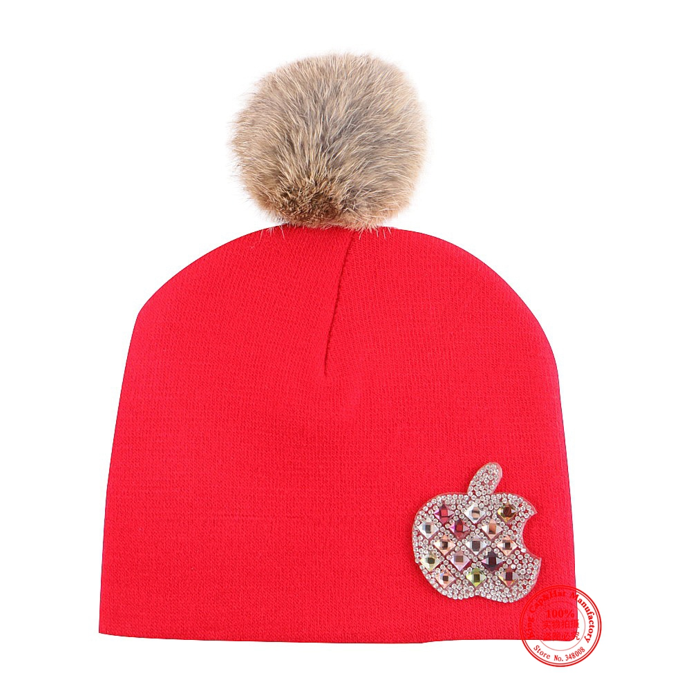 0 to 2 year boy girl beauty knitted hat winter cap pink fuchsia red black cotton warmer children baby beanies gorros skullies