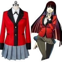 Jabami Yumeko Cosplay Costume Kakegurui Red School Uniform Costume Kakegurui Cosplay Jabami Yumeko Costume Women