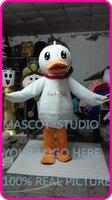 Талисман плюшевые белая утка костюм талисмана пользовательские мультипликационный персонаж косплей необычные платья mascotte тема
