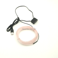 High Quality 2 3mm Skirt 3Meters 10 Colors Available Flexible EL Wire LED Neon Light Input