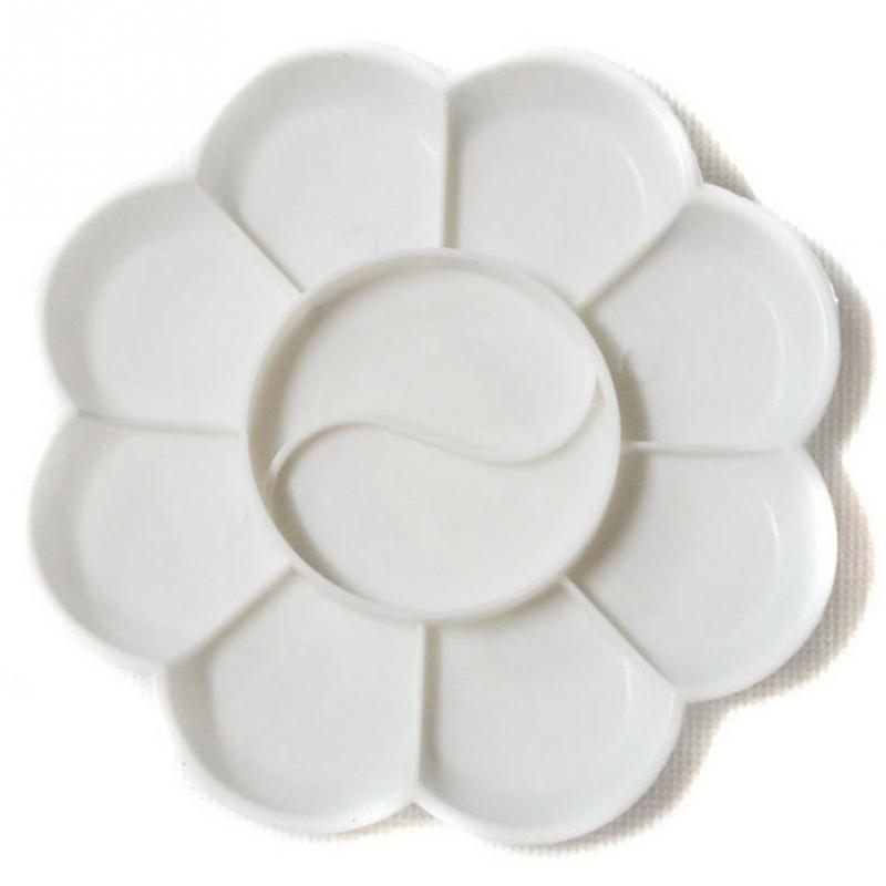 5pcs MINI Painting Plate Art White Plastic Palette Paint Tray Color Tray Artist Watercolor Painting Supply Kid Painting Tool New