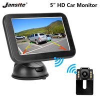 Jansite 5 Car Monitor Digital Wireless License Plate Rear View Camera Reverse Camera Parking Assistance HD display 12 24V