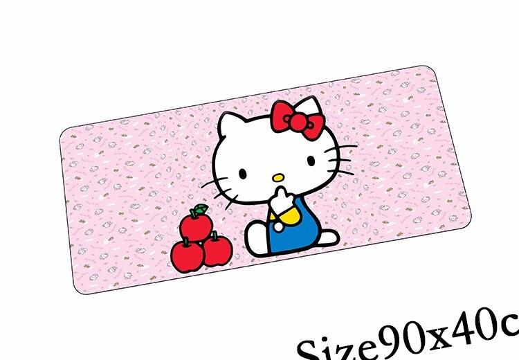 Hello Kitty коврик для мыши 900x400x3 мм коврик для мыши высокого класса аниме игровой padmouse геймер чтобы клавиатура коврики для мыши