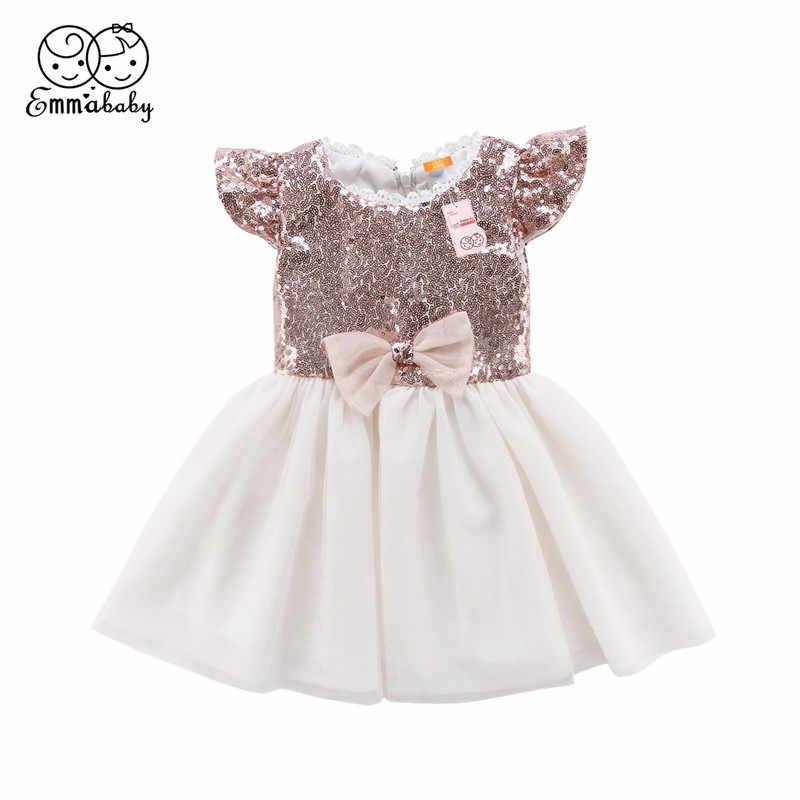 d26cfcf74195d12 Emmababy/От 1 до 6 лет Детское модное платье принцессы с пайетками для  маленьких девочек