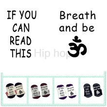 Socks If you can read this breath and be Yo ga socks socks cotton elastic comfortable unisex Yo ga socks(China)