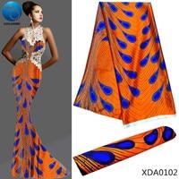 LIULANZHI imitated printed silk fabric printing satin fabrics for dress african silk satin fabric 2019 hot sale 5yards/lot XDA01