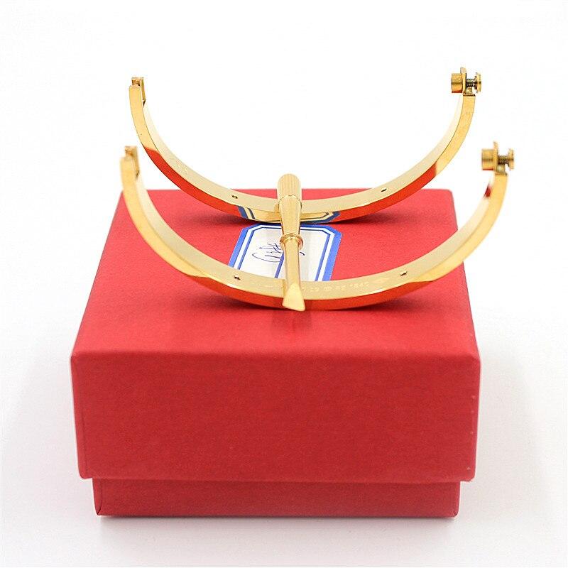 Venta al por mayor Fifth Luxury Top Qualtiy Carter pulseras y brazaletes para la joyería de la boda del brazalete de acero del titanio del amante con el destornillador