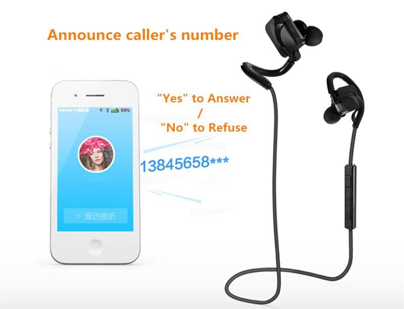 Bluetooth Sports Headphones headset  HD Stereo music headphone voice control  wireless Handsfree sweatproof earphone (1)