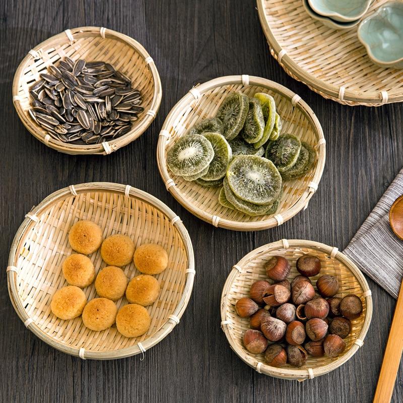 Aliexpress Com Buy Bamboo Plate Hand Made Bamboo Weave