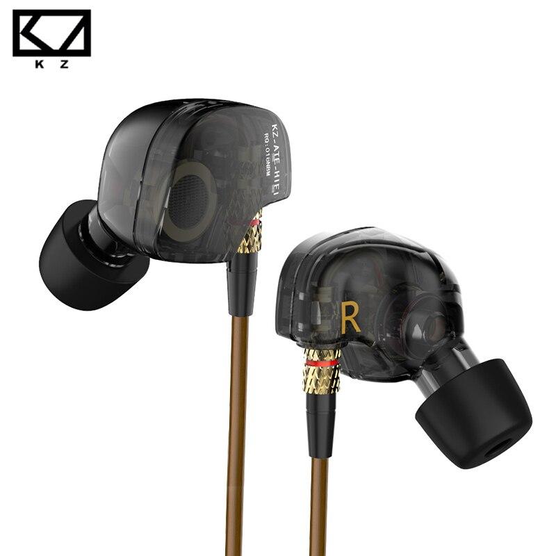 KZ especial comió ED9 dinámico boquilla auricular in ear monitores auriculares con micrófono de alta fidelidad sonido transparente para ios andriod 60% off