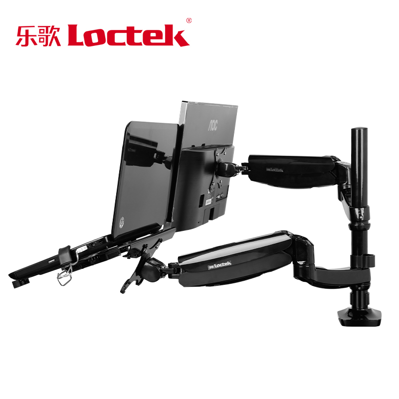 Loctek D5F2 Dual Use Notebook/ Laptop Mount Arm + Monitor Holder With USB Fan Lapdesk for 15.6 inch Laptop and 10-27 Monitor loctek d5f2 dual use notebook laptop mount arm monitor holder with usb fan lapdesk for 15 6 inch laptop and 10 27 monitor