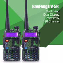 2pcs Promotion Camouflage BAOFENG UV-5R Walkie Talkie Dual Band Radio 136-174Mhz &400-520Mhz Baofeng UV5R handheld Two Way Radio