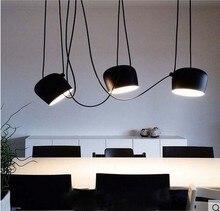 Бонго Кафе Бар Ресторан люстра современные витрины освещение тень черный/белый AC110-240 Черный/Белый Алюминий DIY светильник