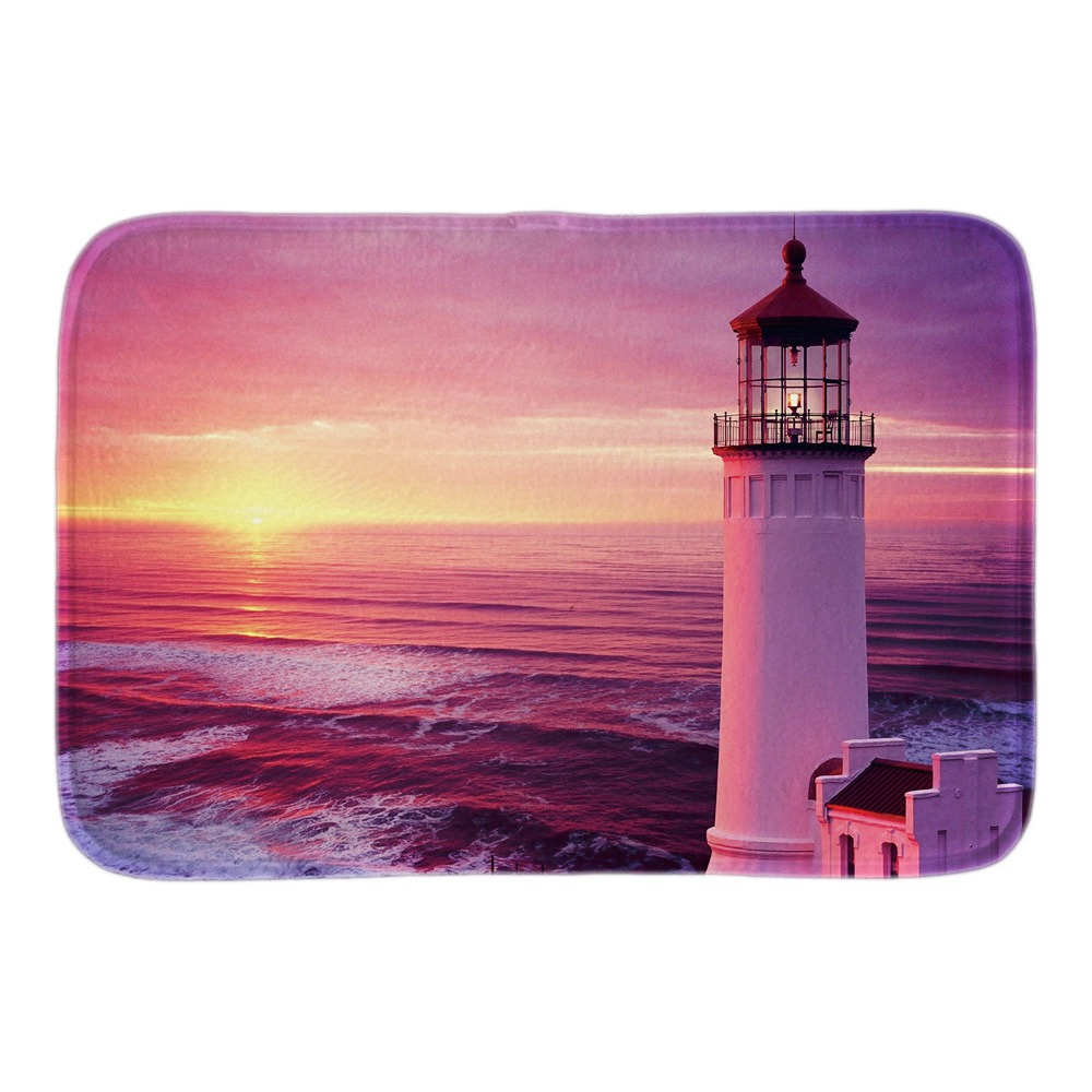 Light House Decorative Doormats Soft Lightness Indoor Outdoor Living Room Bathroom Door Mats Short Plush Fabric Floor Mats