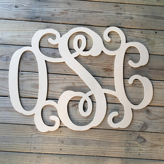 Personalized Wooden Monogram, Wooden Letter, Monogram, Wall
