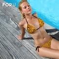 Amarelo Abelha 3D Design Striangle Biquini mulheres 3D Favo De Mel Sutiã XL Conjuntos Sexo Adulto Nadar Triquini Beachwear Red Tie Side Bottoms Meninas
