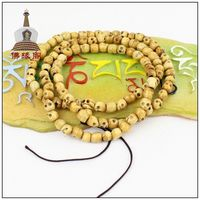 8mm Tibetan Buddhism 108 Bone Skull Prayer Bead Mala Necklace