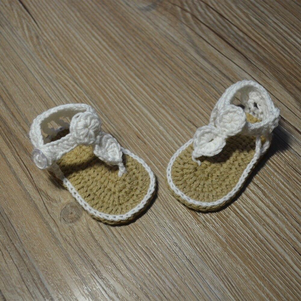 QYFLYXUE-Freeshipping dziecko Crochet shoes, noworodka rozmiar 0-12 M - Buty dziecięce - Zdjęcie 2