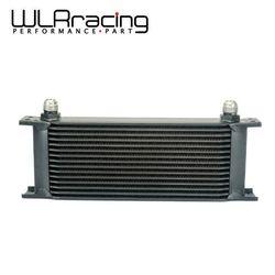 Wyścig WLR-aluminium uniwersalny silnik skrzynia biegów AN10 chłodnica oleju 15 rzędów czarny WLR7015BK