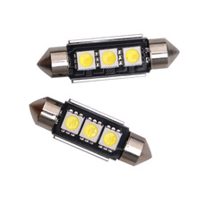 10pcs 36mm 39mm 41mm SMD 5050 LED White Dome Festoon Car Light CANBUS Error Free C5W Lamp auto Bulb interior light 12V