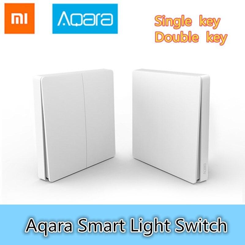Xiaomi Aqara Smart Light Commutateur Sans Fil Version Unique Clé Singel Bouton ZiGBee Wifi Sans Fil Contrôle