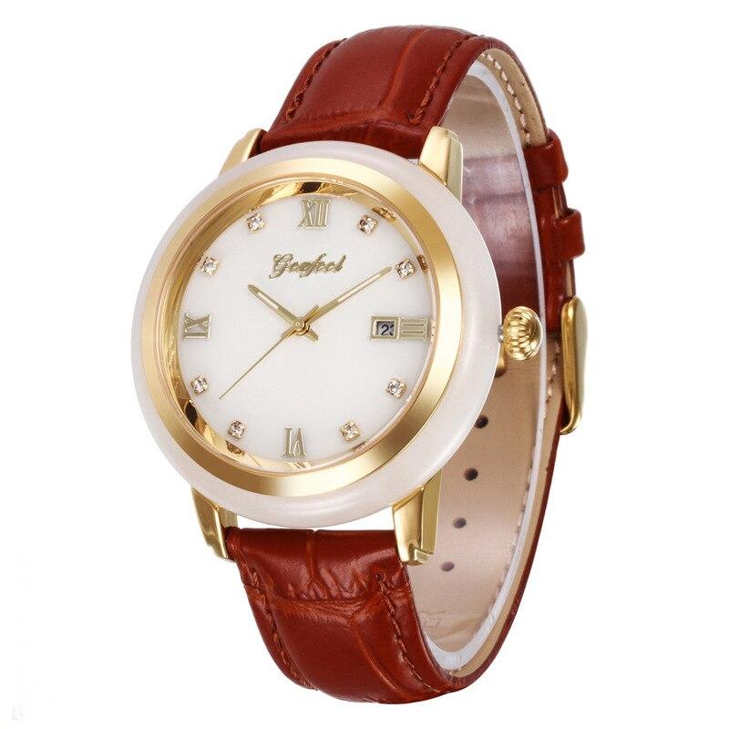 2020 Sale Hot Style Hetian Jade Gift Watches Waterproof Calendar Quartz Lovers Fashion Manufacturer Undertakes