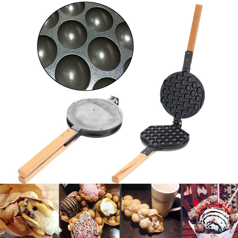 Stove Top Nonstick Hongkong Egg Puff Iron Eggettes Egg Waffle Pan Wafer Egg Makers puff sleeve peplum top