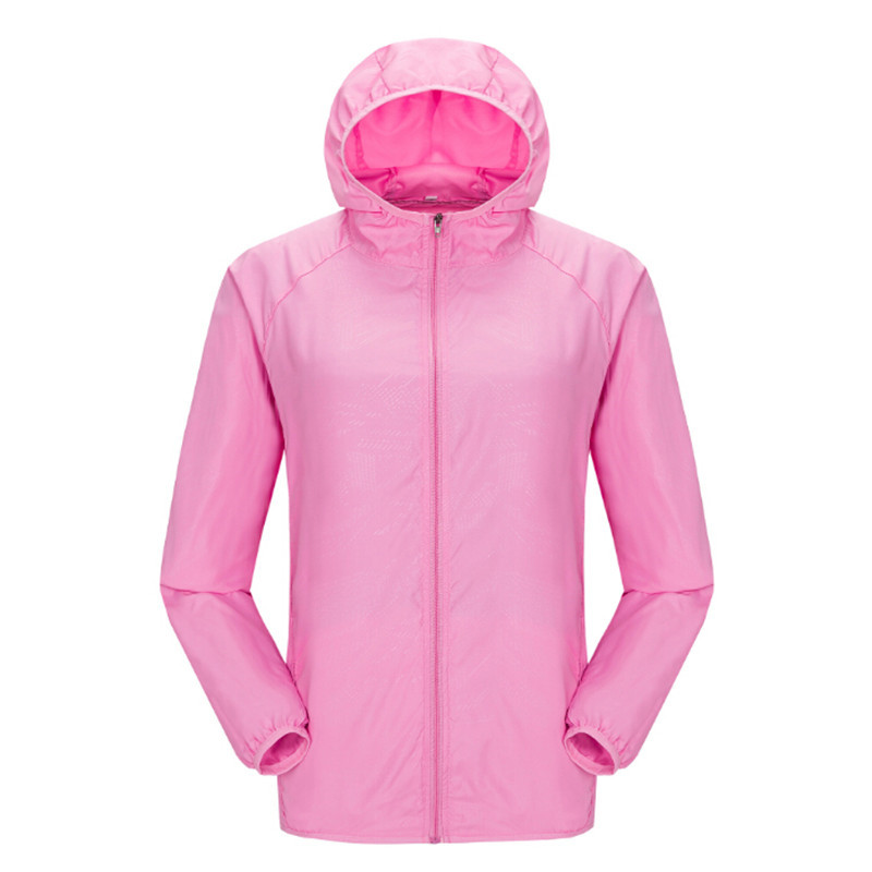 Hiking Clothings Popular Brand Good Camping & Hiking Quick-dry Unisex Windproof Hiking Jacket Light-weight Waterproof Nylon Sports Sun-protective Top Suit & Hat Rn Lovely Luster