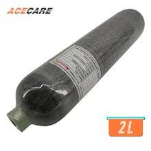 كرة الطلاء الرياضية الجديدة AC102 Acecare للاستخدام في الهواء الطلق 2L 4500psi 300bar من ألياف الكربون/PCP خزان الهواء/اسطوانة بندقية Airgun انخفاض الشحن