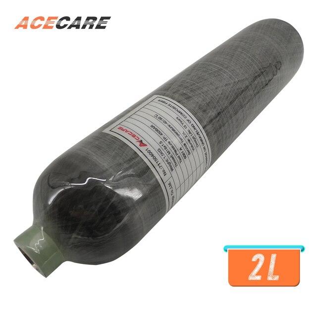 AC102 Acecare ใหม่กีฬากลางแจ้ง Paintball ใช้ 2L 4500psi 300bar คาร์บอนไฟเบอร์/PCP Air Tank/กระบอก Airgun ปืนไรเฟิล drop Shipping