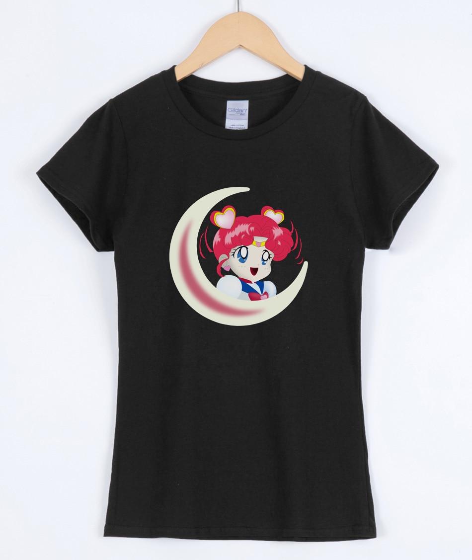 Sailor Moon Anime T-shirts Short Sleeve 2019 New Arrival Women's Shirt Top Kawaii Harajuku T-shirt For Lady Sexy Brand Tees Hot